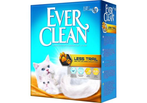 Наполнитель Ever Clean Less Trail для котят и длинношерстных кошек 10л