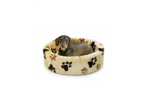 Лежанка Karlie Basic Paws для собак, бежевый, 100см