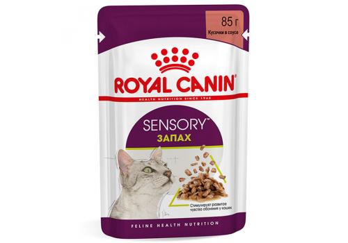 Корм влажный Royal Canin СЕНСОРИ ЗАПАХ для кошек, стимулирует обонятельные рецепторы, в соусе, 85г
