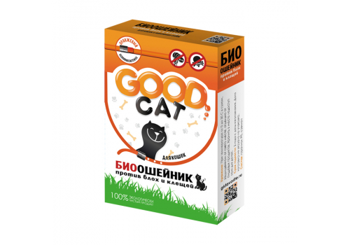 Ошейник Good Cat против блох и клещей для кошек, 65см