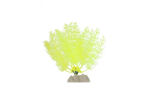 Растение пластиковое Glofish флуоресцентное желтое, 13см