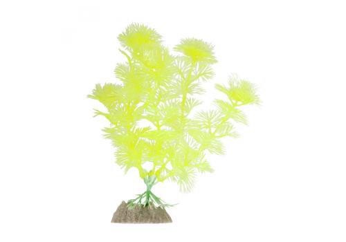 Растение пластиковое Glofish флуоресцентное желтое, 15,24см