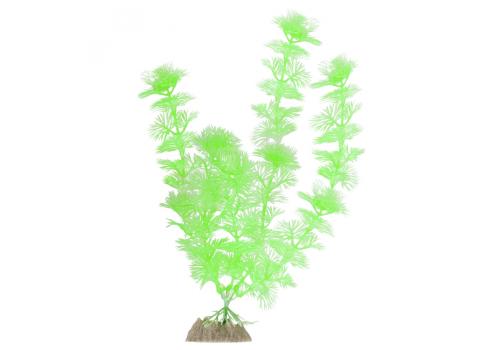 Растение пластиковое Glofish флуоресцентное зеленое, 20,32см