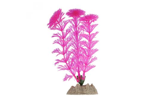 Растение пластиковое Glofish флуоресцентное розовое, 13см