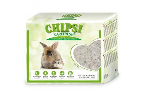 Бумажный наполнитель для мелких животных и птиц Chipsi CareFresh Pure White 5л