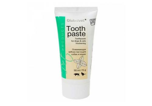 Зубная паста Globalvet Освежающая зубная паста для собак и кошек, 50мл
