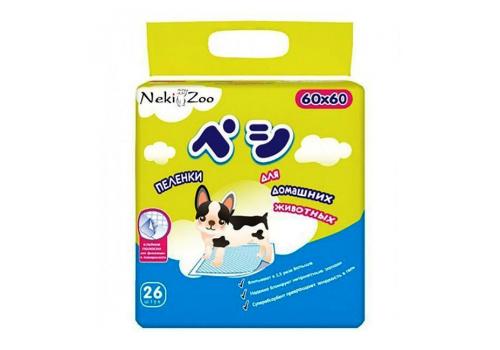 """Пеленки Maneki """"NekiZoo"""" для собак, с липучками, 60х60см, 26шт"""