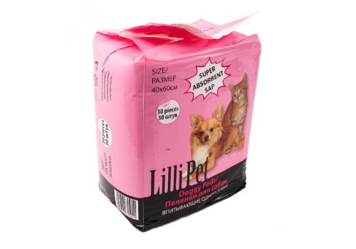 Пеленка для собак Lilli Pet впитывающая, 40x60см, 30шт
