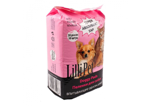 Пеленки впитывающие Lilli Pet DOGGY PADS для собак, 60Х60см, 30шт