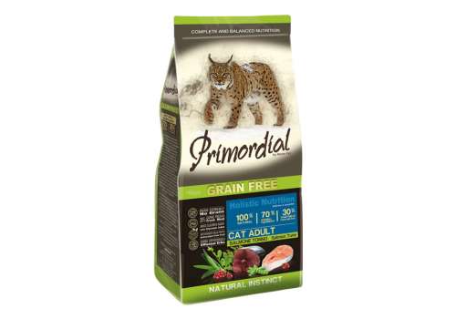 Корм Primordial Adult для кошек беззерновой, лосось/тунец 6кг
