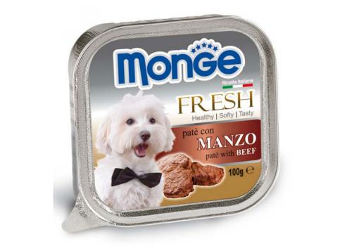 Консервы Monge Fresh для собак, говядина 100г