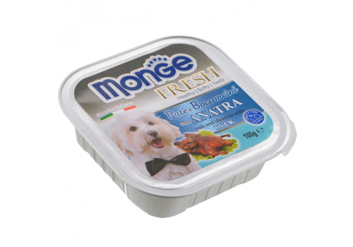 Консервы Monge Fresh для собак, утка 100г