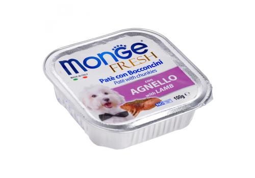 Консервы Monge Fresh для собак, ягненок 100г