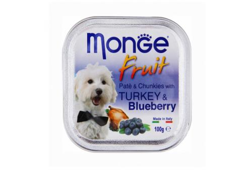 Консервы Monge Fruit для собак, с черникой 100г