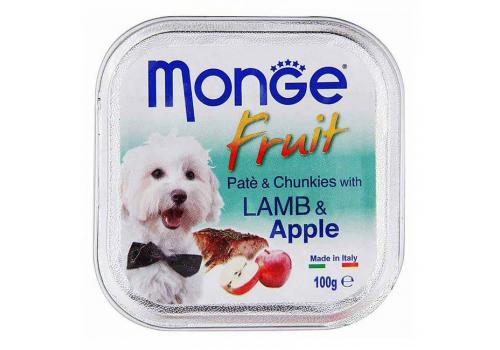 Консервы Monge Fruit для собак, ягненок с яблоком 100г