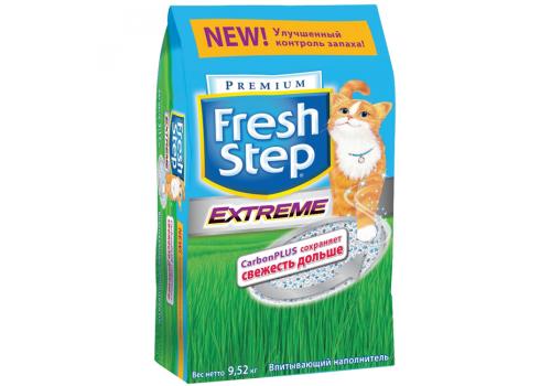 Наполнитель Fresh Step Extreme с активированным углем 9.52кг (18л)