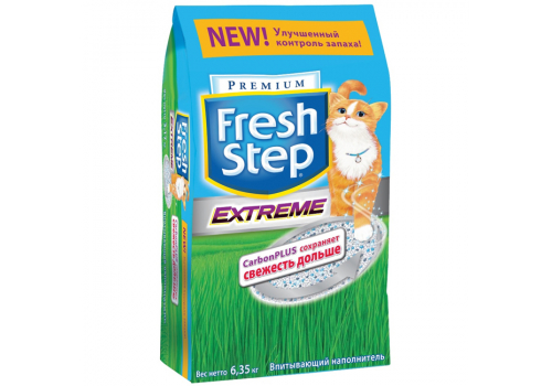 Наполнитель Fresh Step Extreme с активированным углем 6.35кг (12л)