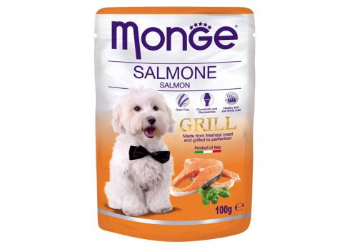 Консервы Monge Grill Pouch для собак, лосось 100г