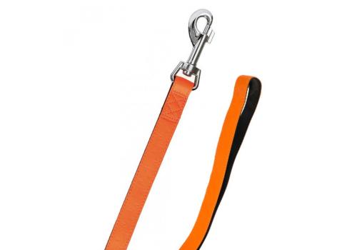 Поводок ART LEATHER+, оранжевый, 100смx20мм