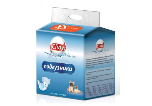 Подгузники Cliny XS для собак и кошек 2-4кг, 11шт