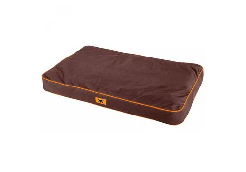 Подушка Ferplast Polo 110 для собак, со съёмным чехлом, коричневая