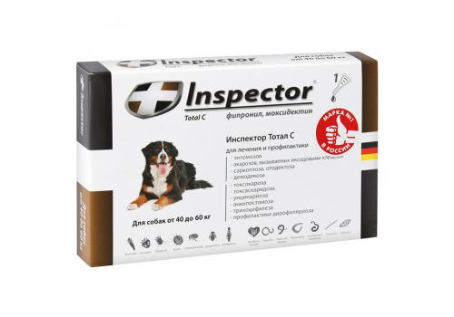 Inspector Капли от внешних и внутренних паразитов для собак 40-60кг, 1 пипетка