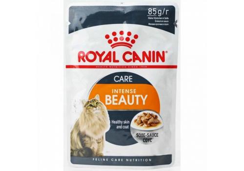 Корм влажный Royal Canin Intense Beauty (в соусе) для кошек, поддержание красоты шерсти 85г
