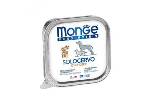 Консервы Monge Monoproteico Solo для собак, паштет из оленины, 150г