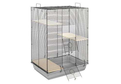 Клетка Дарэлл ECO 3 этажа, для шиншилл, крыс, 58*40*82см.