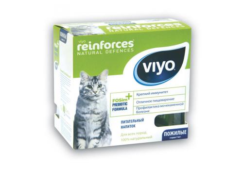 Напиток-пребиотик Viyo для пожилых кошек, 30мл