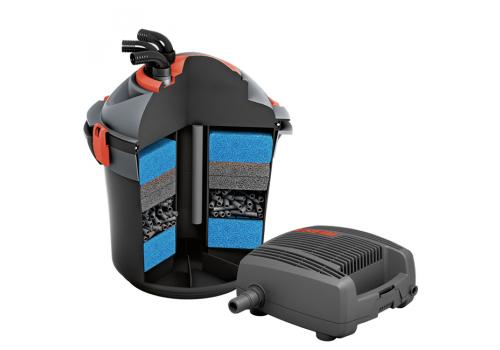 Фильтр прудовый напорный EHEIM PRESS 7000 с помпой FLOW 2500 и наполнителями EHEIM filter media