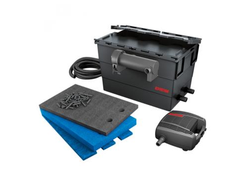 Фильтр прудовый проточный EHEIM LOOP 15000 с помпой FLOW 5000, стерилизатором 11Вт и наполнителями