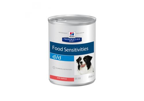 Влажный корм Hill's PD d/d Food Sensitivities для собак, при пищевой аллергии, с лососем 370г