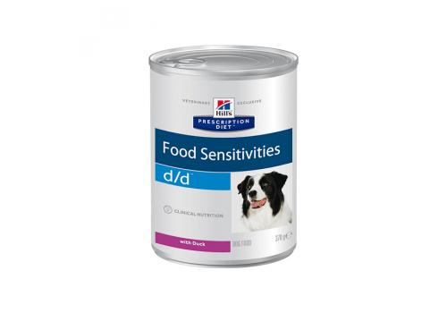 Влажный корм Hill's PD d/d Food Sensitivities для собак, при пищевой аллергии, с уткой 370г