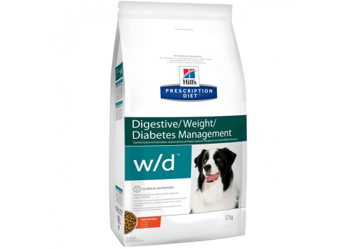Корм Hill's РD w/d Digistive Weight для собак, при диабете 12кг
