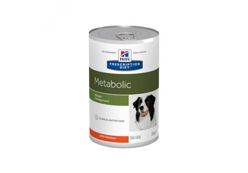 Влажный корм Hill's PD Metabolic для собак, способствует снижению и контролю веса, с курицей 370г