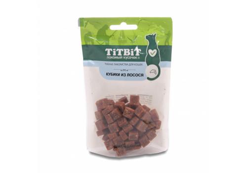 Лакомство TitBit Кубики из лосося для кошек 60г