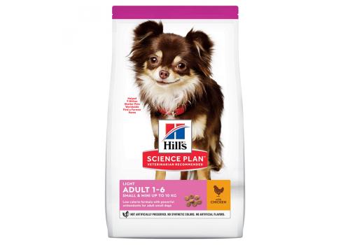 Корм Hill's SP Light для собак мелких пород, для поддержания веса, с курицей и рисом, 1.5кг