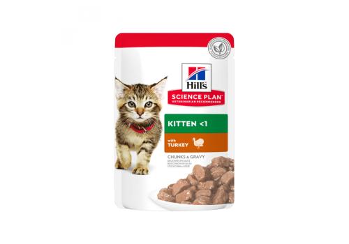Корм влажный Hill's SP Kitten для котят, с индейкой 85г