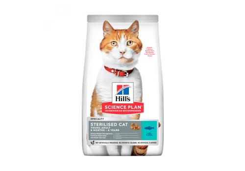 Корм Hill's SP Sterilised Adult для стерилизованных кошек, с тунцом 300г