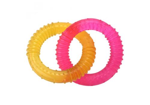 Игрушка для собак TPR Double ring Двойные кольца, 15см