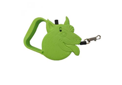Поводок-рулетка Lilli Pet Pretty dog, зеленая, 3м