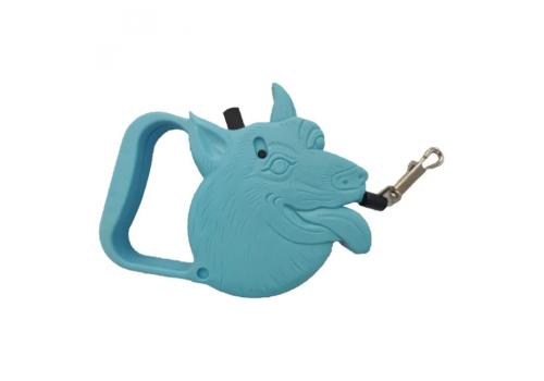 Поводок-рулетка Lilli Pet Pretty dog, синяя, 3м