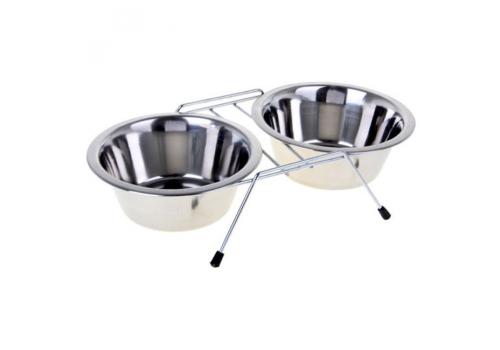 Набор Lilli Pet Double Dinner миски с подставкой, 2х250мл