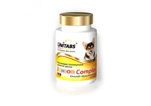 Пищевая добавка Unitabs JuniorComplex c B9 для щенков, 100таб.