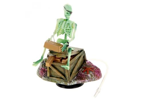 Декоративный распылитель Penn-Plax Скелет с золотом