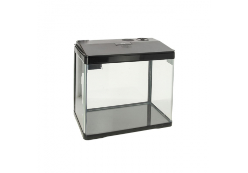 Аквариум Prime LED c фильтром и кормушкой, 15л, черный