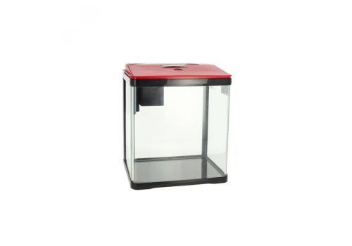Аквариум Prime LED c фильтром,  7л, красно-черный