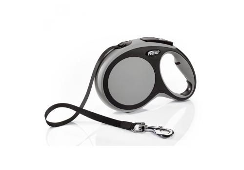 Рулетка Flexi New Comfort М (до 25кг) лента 5м, черный/антрацит