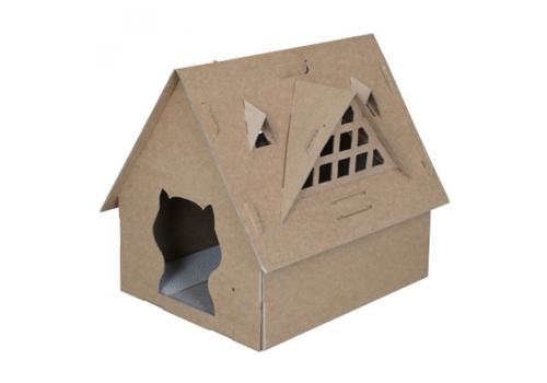 Домик-конструктор для кошек ZORTO, 53х43х43см, картон